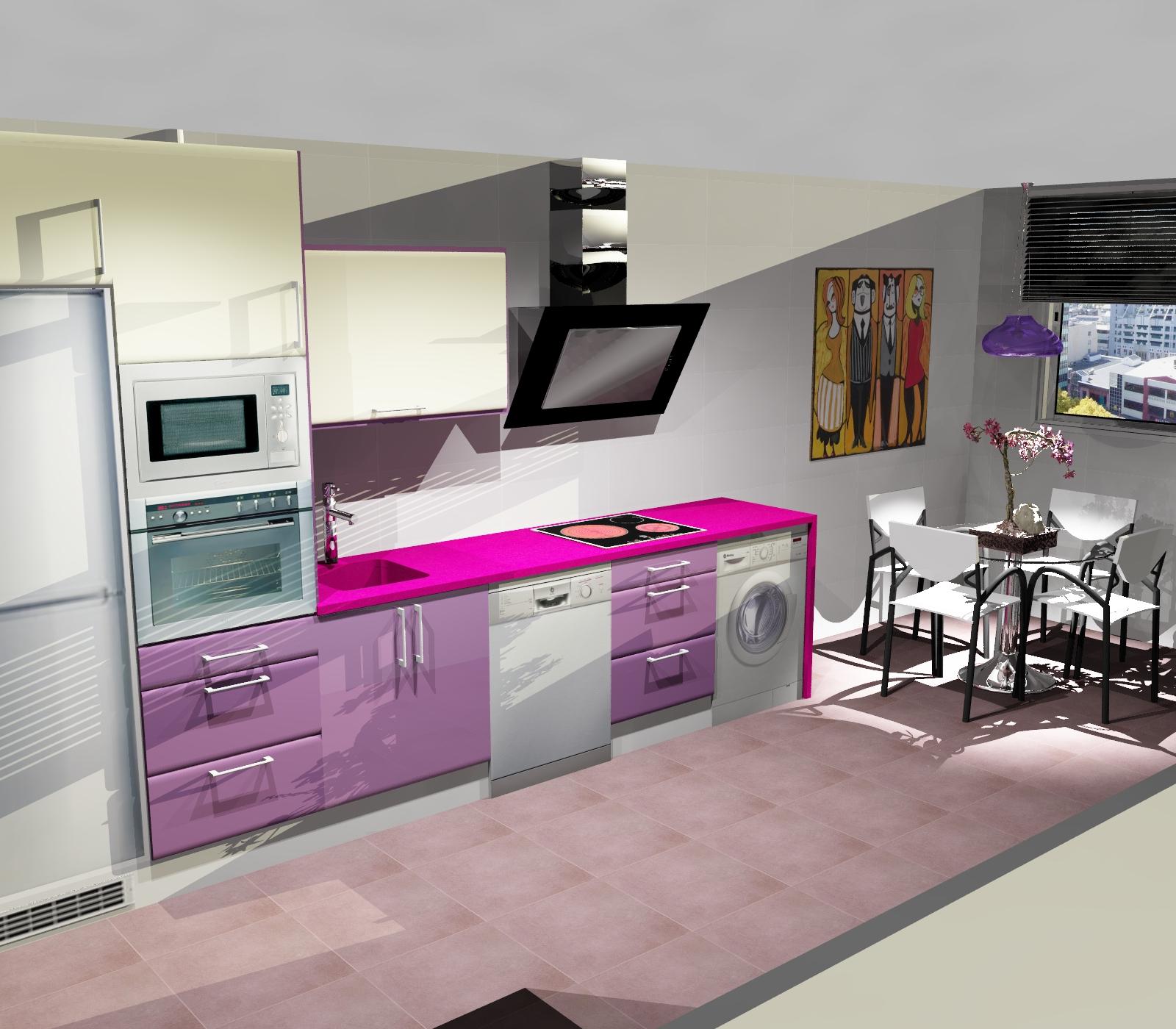 La cocina blanca - Cocinas blancas y gris ...
