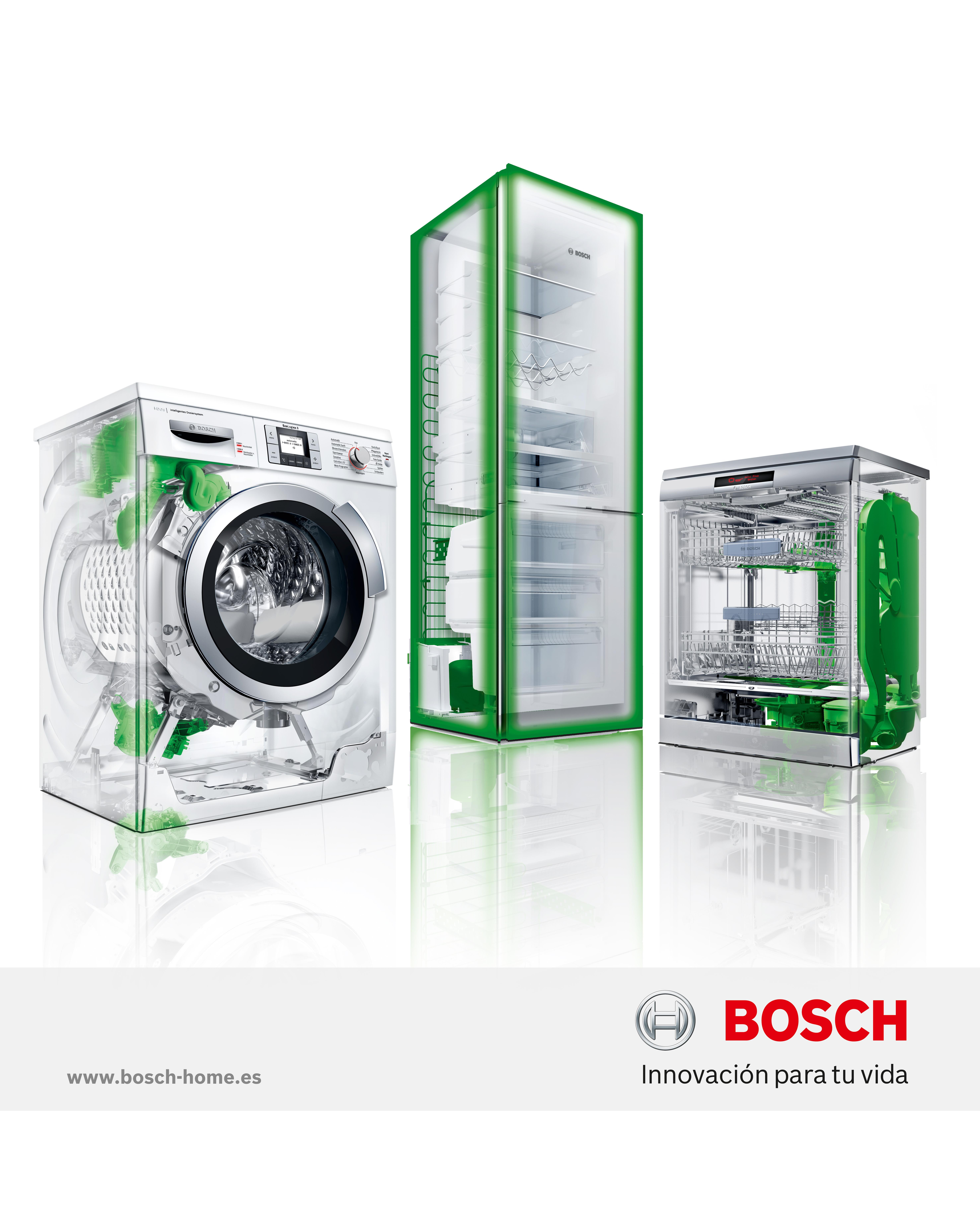 Lavadora frigor fico y lavavajillas eficientes de bosch for Mueble para lavadora y lavavajillas